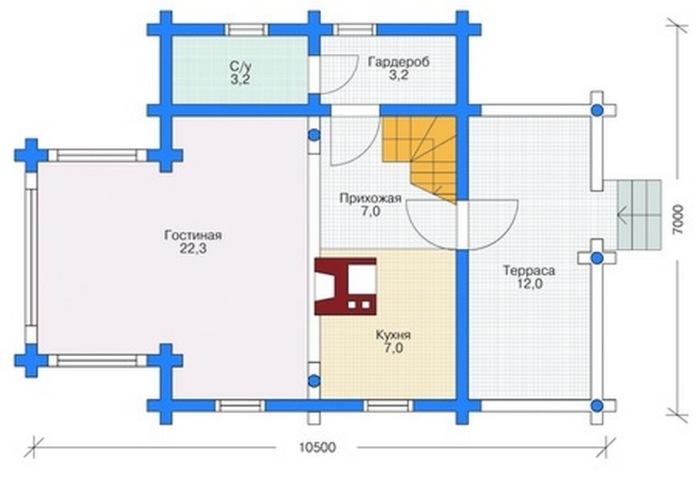 При проведении грамотного расчета материала для облицовки необходимо использовать план дома, а также всех фасадных частей