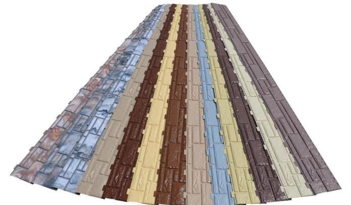 Внешний вид, а также цвет цокольных сайдинговых панелей очень реалистично копирует кирпичную кладку, природный камень или дерево