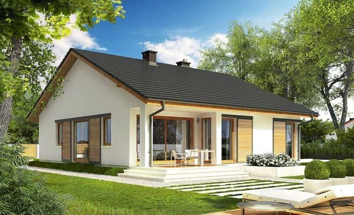 Фасады одноэтажных домов достаточно сложно оформить стильно