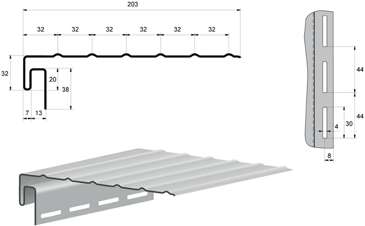 Наибольшей популярностью у потребителей пользуется белая J-образная фаска от «Альта-сайдинг»