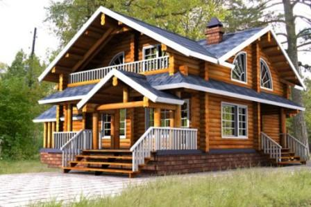 Блок-хаус отличается от вагонки и имитации бруса тем, что он не плоский