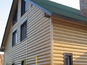 Отделка стен блок-хаус вагонкой, имитирует дома из сруба