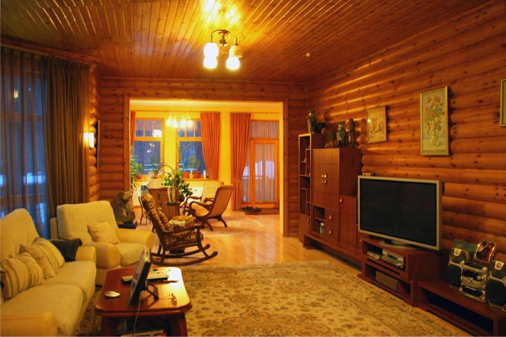 интерьер с блок хаусом фото