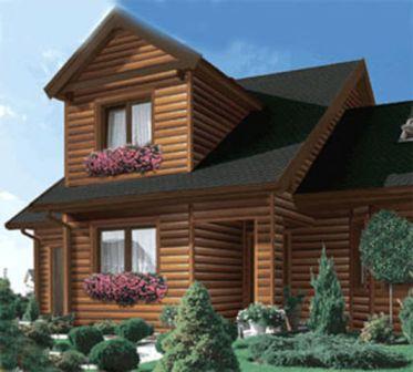 Отделка фасада натуральной древесиной не только украшает, но и утепляет здание