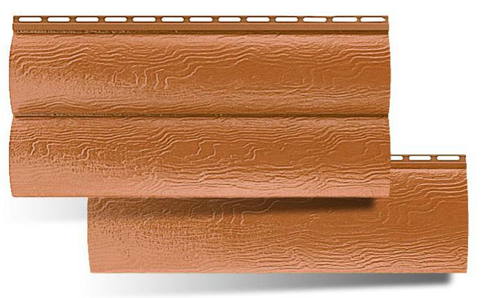 Виниловый блок-хаус от «Текос» характеризуется стабильностью геометрических размеров