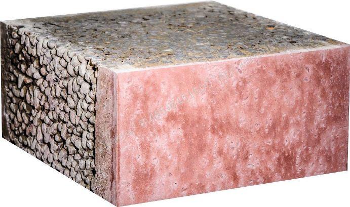 При изготовлении бетонного сайдинга используется смесь на основе песка, цемента и целлюлозных волокон