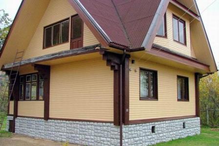 фасад частного дома с фото