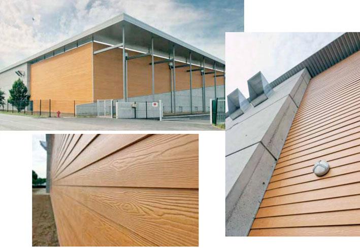 Фасадный тип фиброцементных отделочных материалов изготавливается на основе экологически чистых компонентов, основные из которых представлены водой, цементом и высококачественными натуральными целлюлозными волокнами