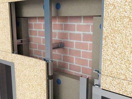 Фальшфасад скрывает неровности и дефекты стен, не требует подготовки поверхности