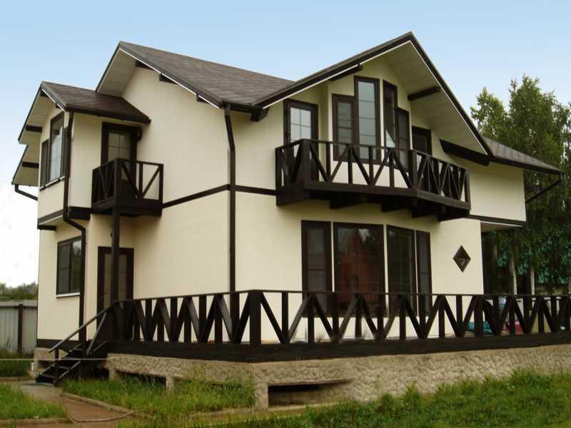 Дом из газобетонных блоков отделка фасадов