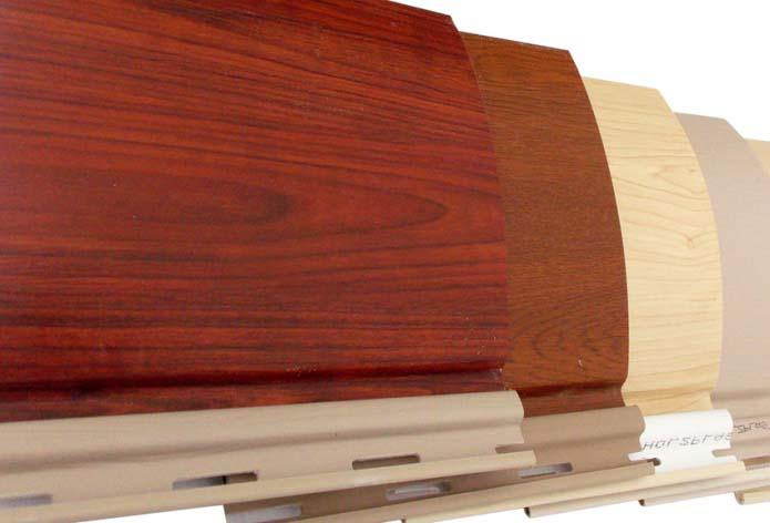 Сайдинг «Holzplast» обладает наличием оригинальных цветовых решений