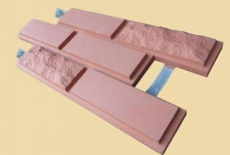 Плиточные панели «Каньон» состоят из цементно-песочной связки, упрочняющих добавок и пигмента