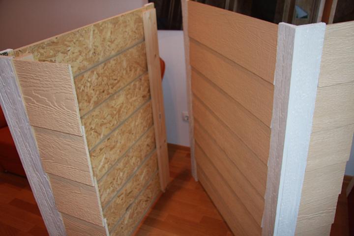 Сайдинговые панели из серии «Смарт-сайд» по внешним структурным показателям напоминают ОСП-плиты
