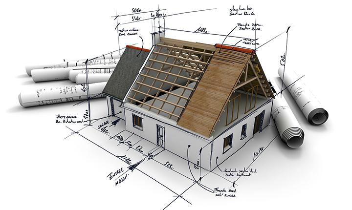 Для выполнения расчетов потребуется наличие максимально подробного плана дома с обозначением всех геометрических параметров стен и кровли