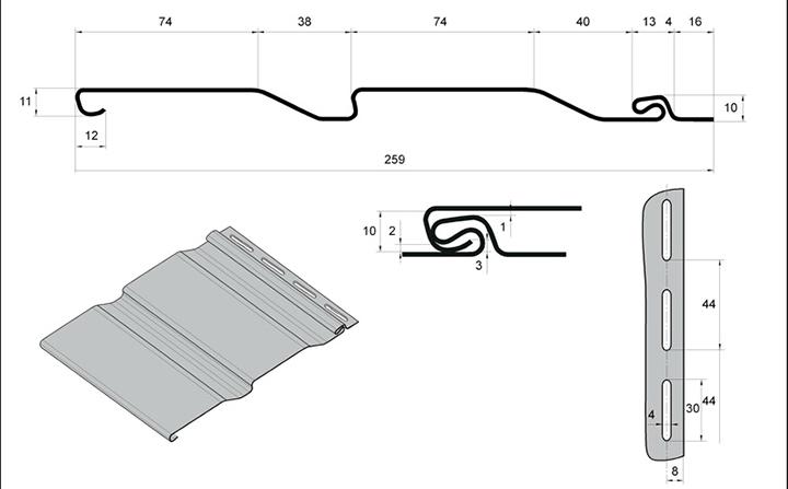Отделочные материалы в виде сайдинговых панелей обладают четкими геометрическими размерами и определенным назначением