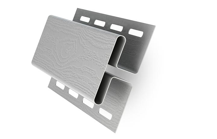 Для соединения сайдинговых панелей на стене применяется Н-образный соединительный профиль