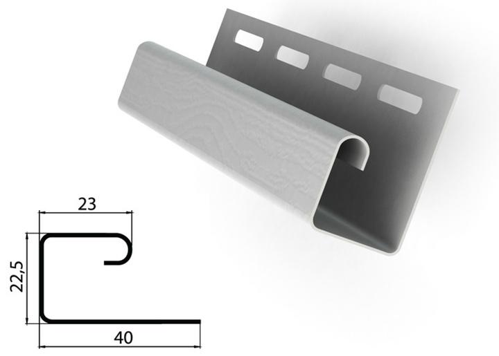J-образный профиль используется, как правило, для окантовки и декорирования дверных и оконных проемов