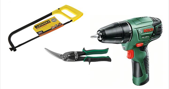 Качественно сделать работу получится лишь при наличии необходимых материалов и инструментов