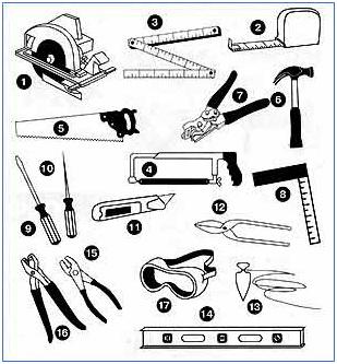 Чтобы начать монтаж сайдинга, нужно приготовить необходимые для установки панелей инструменты