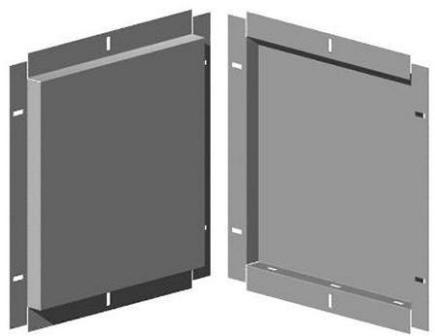 Фасадные кассеты представляют собой изогнутый и формованный лист металла