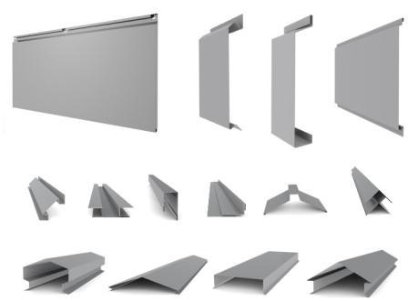 Для монтажа фасада вам потребуются кассеты и вспомогательные элементы