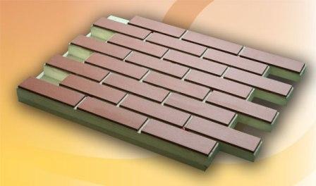 Клинкерные панели применяются для теплых фасадов