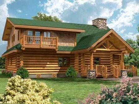 Для отделки дома снаружи выбирают блок-хаус большего размера