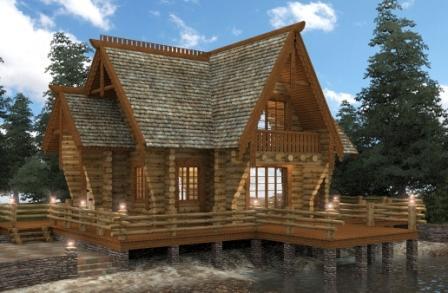 Древесина лиственницы влагостойка и долговечна, фасад надолго сохранит привлекательный вид