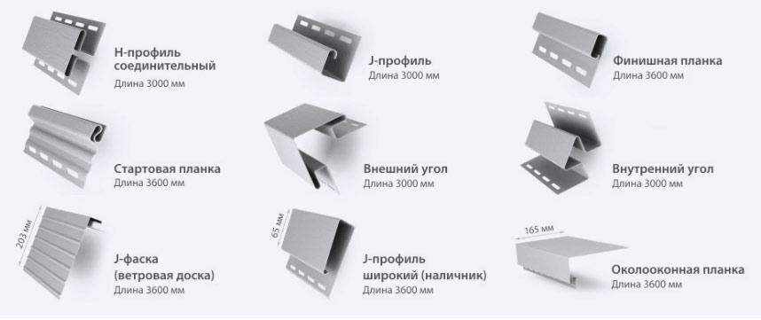 Целесообразно использовать комплектующие того же производителя, отделочные панели которого планируется монтировать на сооружение