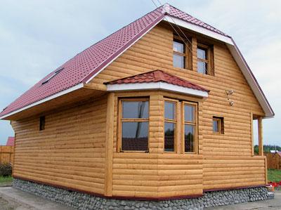 Блок-хаус должен быть защищен должным образом, обработка лаком или краской