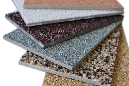 Фиброцементные плиты выпускаются с разнообразными покрытием, например, каменной крошкой