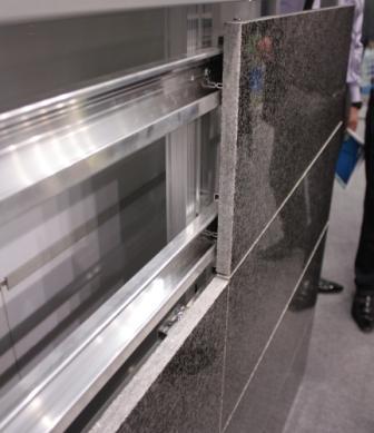 Стальной каркас (подсистема) с легкостью выдерживает вес навесного фасада
