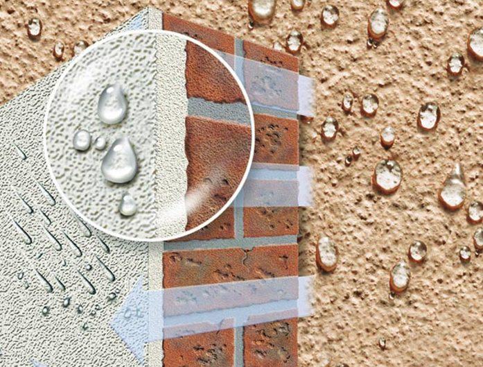 Силиконовая фасадная краска способна сформировать водоотталкивающую поверхность
