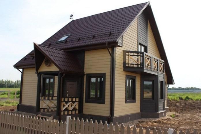 Фиброцементный сайдинг «Латонит» широко используется при проведении отделочных работ на фасадах зданий