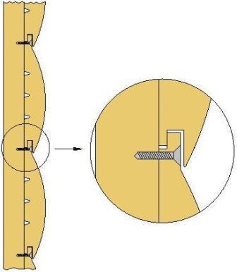 Укладка панелей может осуществляться в двух направлениях: от потолка либо от пола