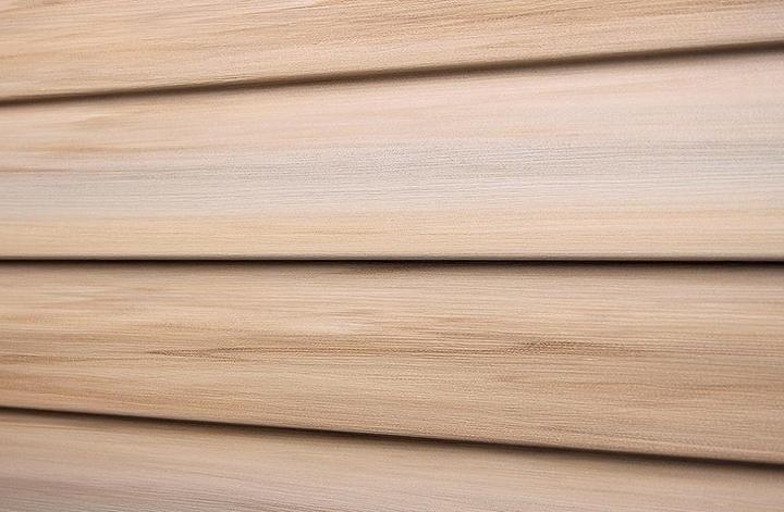 Сайдинговые панели «Tecos» обладают стабильностью геометрического размера, а толщина панели составляет не менее 0,12 см, что полностью соответствует стандартам ASTM