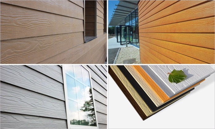 Фиброцементный сайдинг и фиброцементные панели по внешним параметрам схожи с натуральной древесиной