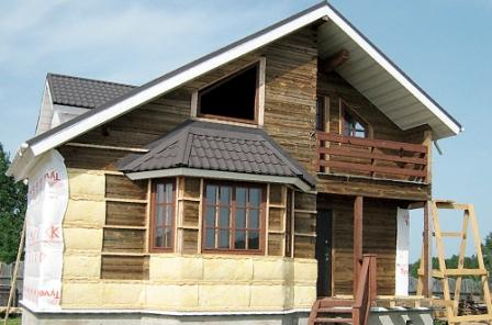 Установив вентфасад на загородный деревянный дом - Вы получите уютное экожилище