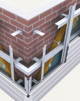 Поверхности стен в особой подготовке не нуждаются, так как подсистема фасада скроет все неровности